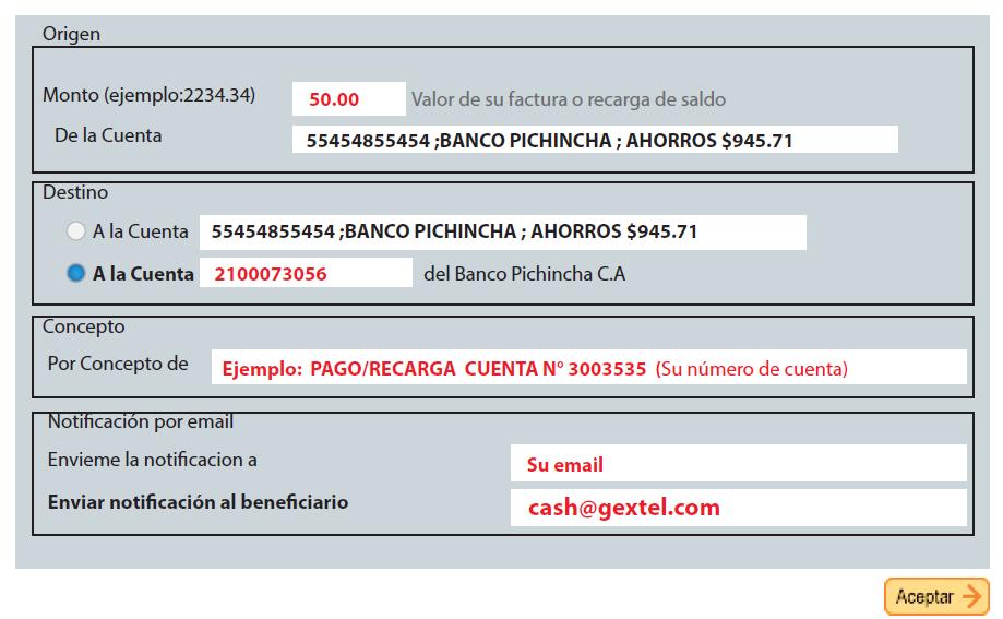 Gu a para pagos mediante banco pichincha toda la ayuda y for Transferencia bancaria